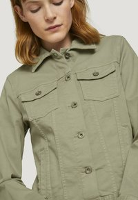 TOM TAILOR - MIT KNITTERDETAILS - Denim jacket - prairie grass green - 3