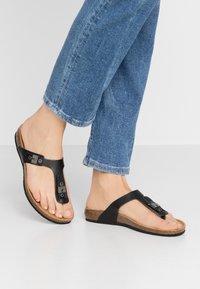 Scholl - BIMINOIS - Flip Flops - noir - 0