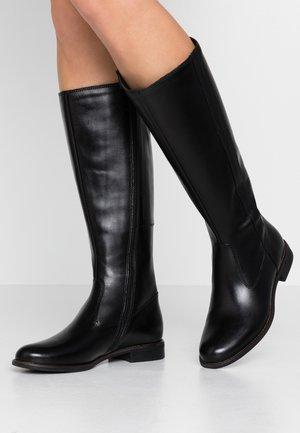 LEATHER BOOTS - Høje støvler/ Støvler - black
