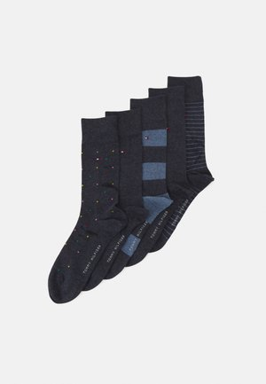 MEN SOCK TIN GIFTBOX STRIPE AND DOT 5 PACK - Socks - jeans