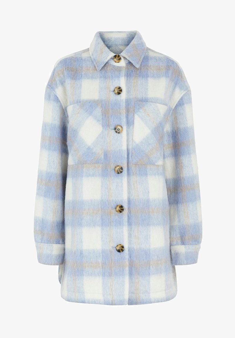 Pieces - PCAMALIA LONG SHACKET - Short coat - kentucky blue