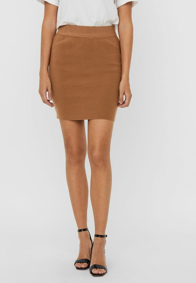 VMSANNA SKIRT - Mini skirt - tobacco brown