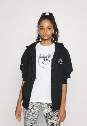 ALL MEANS HOODIE - Zip-up sweatshirt - black