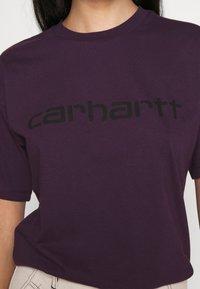 Carhartt WIP - SCRIPT - Print T-shirt - boysenberry/black - 5