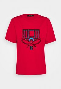 MCM - COLLECTION SHORT SLEEVES TEE - T-shirts med print - red - 0