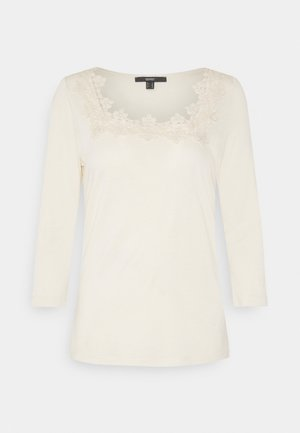 ECOVERO LACETEE - Long sleeved top - sand