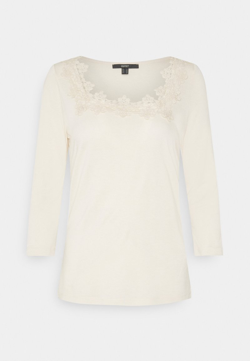 Esprit Collection - ECOVERO LACETEE - Top s dlouhým rukávem - sand