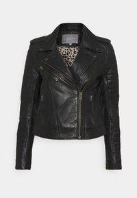 Culture - CENZIA JACKET - Leather jacket - black - 0