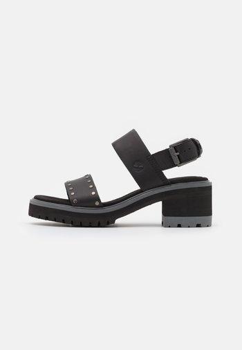 VIOLET MARS 2 BAND  - Platform sandals - black