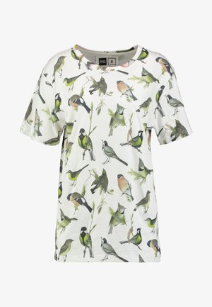 VISBY AUTUMN BIRDS - T-shirt imprimé - off-white