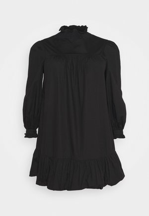 TIE SLEEVE SMOCK DRESS - Day dress - black