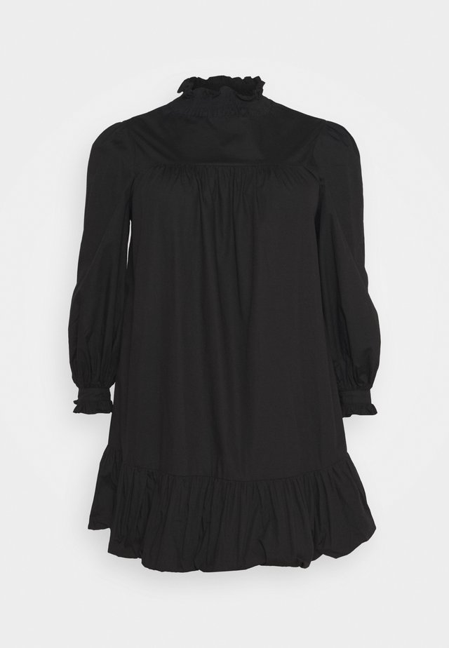 TIE SLEEVE SMOCK DRESS - Sukienka letnia - black