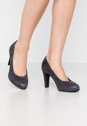 Escarpins à talons hauts - dark grey/multicolor