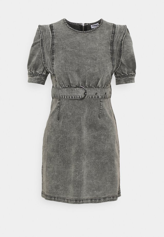 NMLISA PUFF SLEEVE DRESS - Jersey dress - medium grey denim