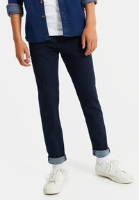 WE Fashion - Slim fit jeans - dark blue - 0