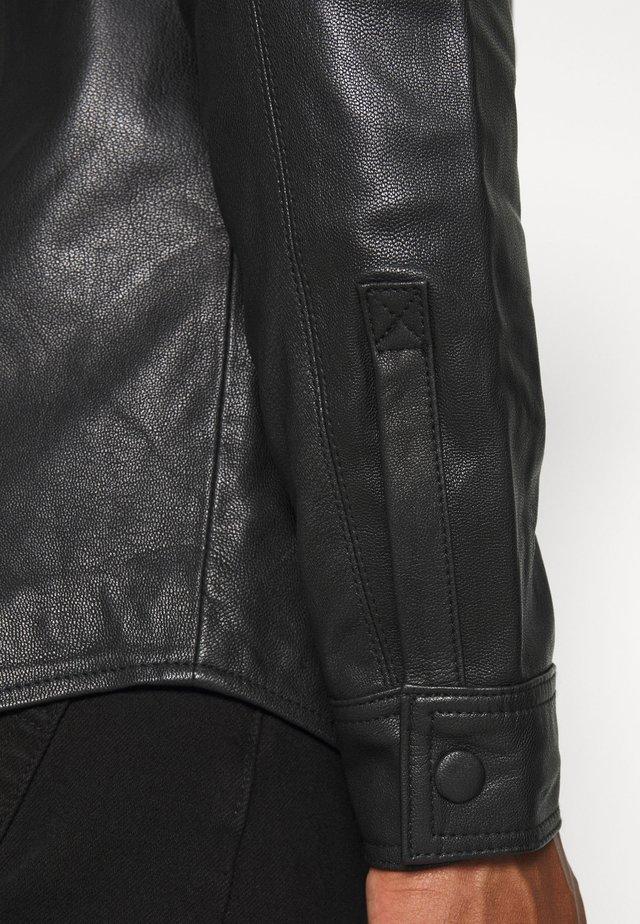 TITO - Veste en cuir - black