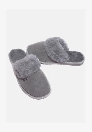Slippers - silver grey