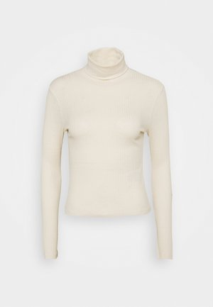 OBJMIE ROLLNECK - Long sleeved top - sandshell