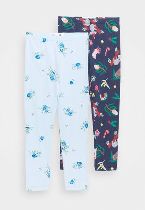 HUGGIE TIGHTS 2 PACK - Leggings - Trousers - indigo/frosty blue
