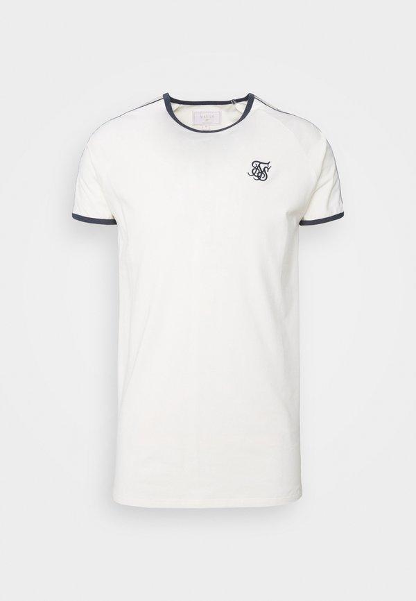 SIKSILK PREMIUM RINGER GYM TEE - T-shirt basic - off white/mleczny Odzież Męska UIIC