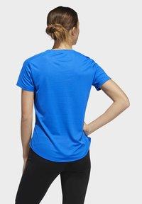 adidas Performance - RUN IT 3-STRIPES FAST T-SHIRT - Print T-shirt - blue - 2