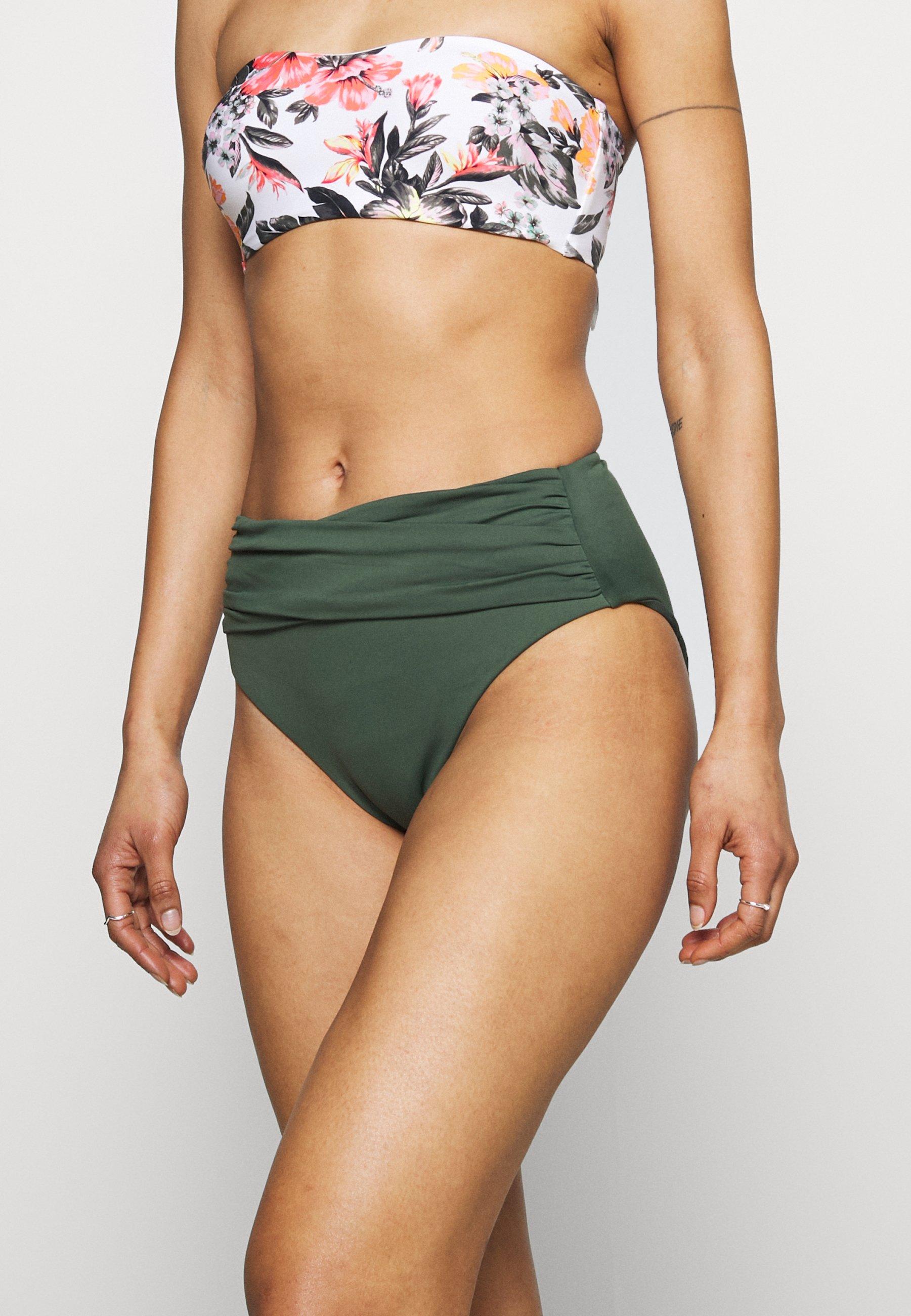 Women HIGH WAIST WRAP FRONT PANT - Bikini bottoms