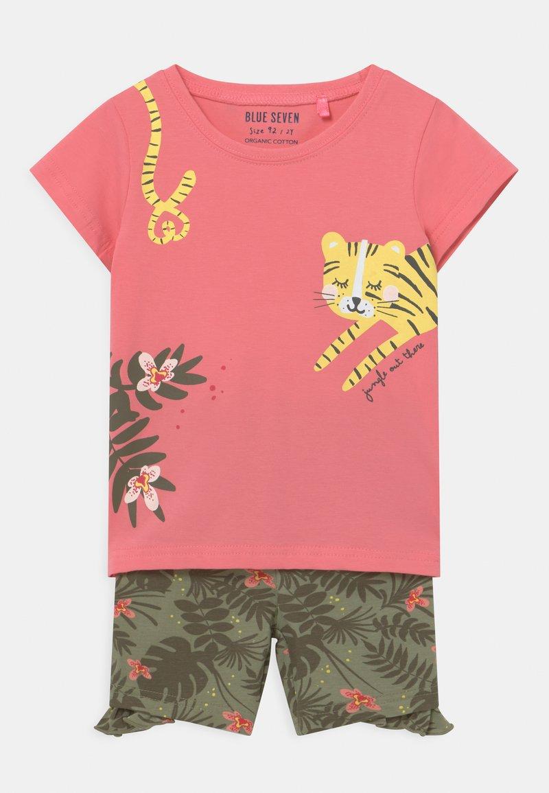 Blue Seven - SMALL GIRLS TIGERJUNGLE SET - T-shirt print - pink