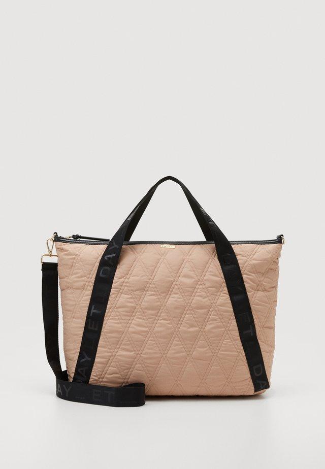 DIAMOND CROSS - Shopping bag - brush beige