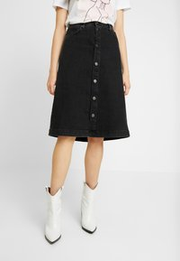 Tomorrow - HEPBURN SKIRT ORIGINAL - A-Linien-Rock - black - 0