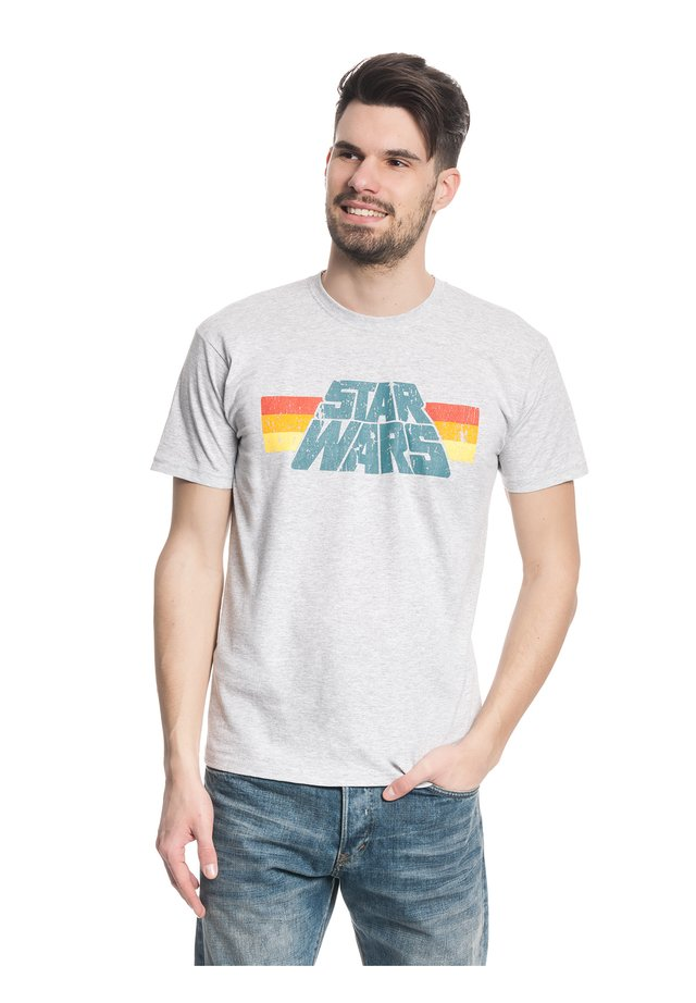 STAR WARS VINTAGE  - Print T-shirt - grau meliert