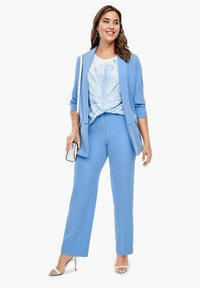 Triangle - REGULAR FIT: STRAIGHT LEG-HOSE - Trousers - blue - 1