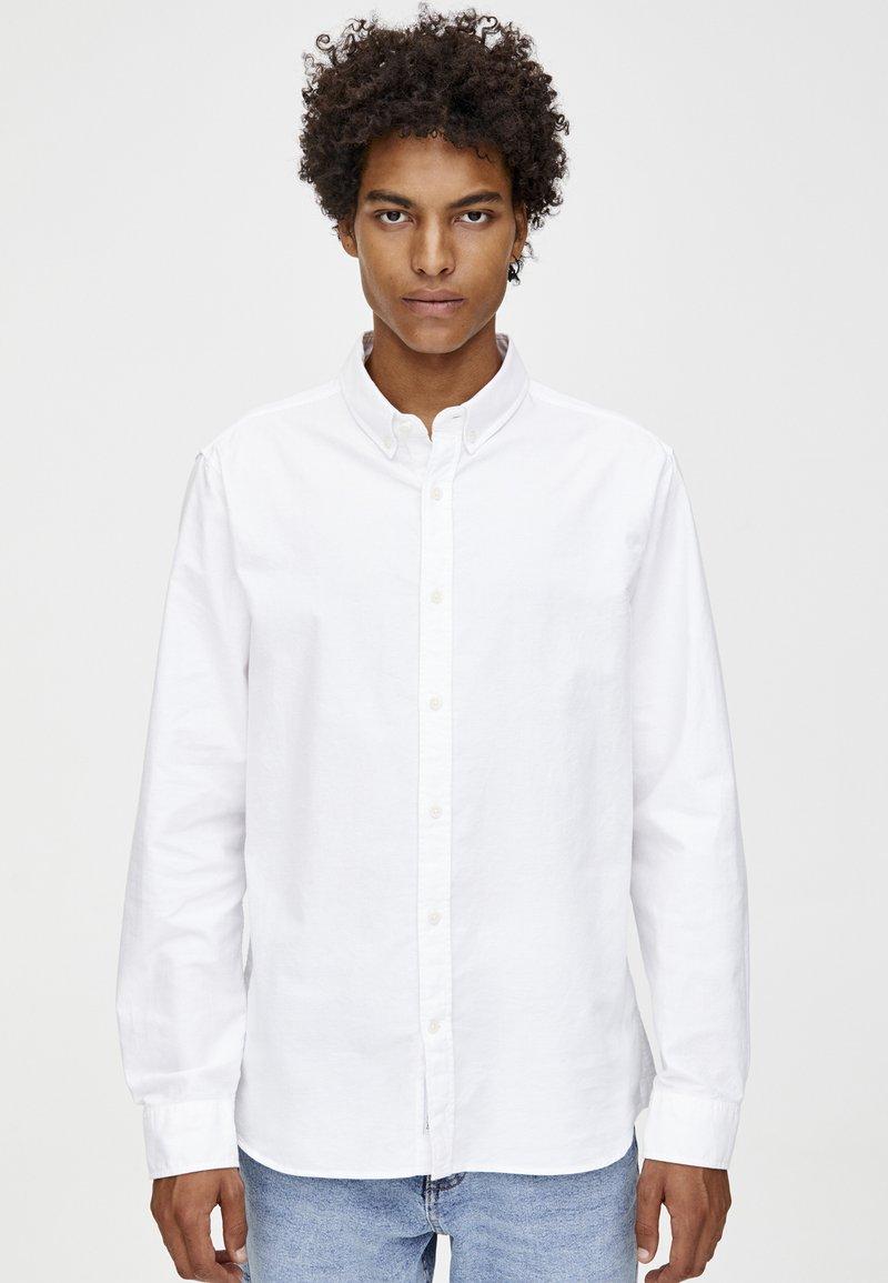 PULL&BEAR - BASIC - Hemd - white