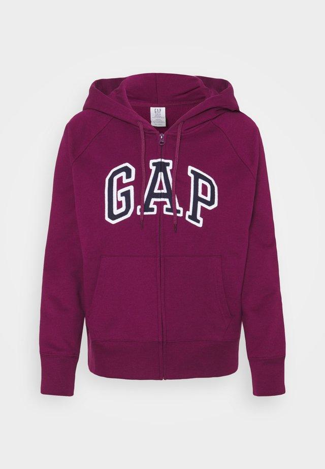 Zip-up hoodie - beach plum