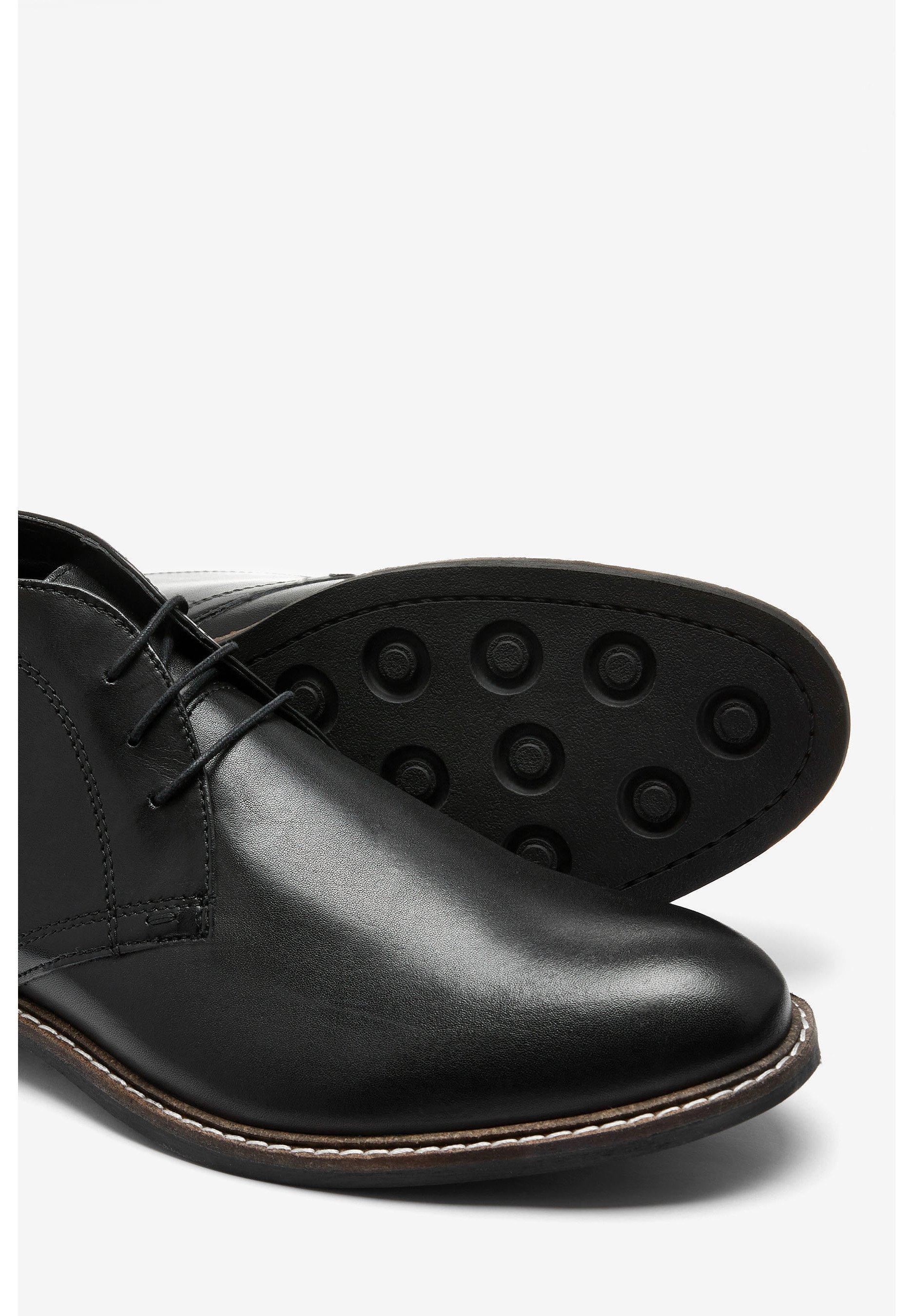 Next TAN CHUKKA BOOTS - Eleganta snörskor - black/svart - Herrskor tWkLv