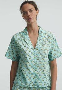 OYSHO - Button-down blouse - turquoise - 0