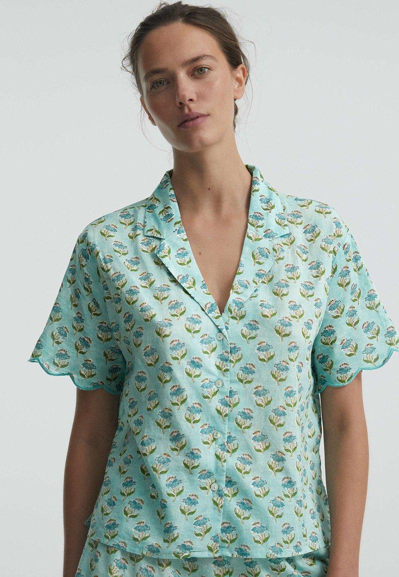 OYSHO - Button-down blouse - turquoise