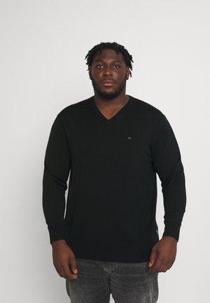 SUPERIOR V NECK - Pullover - black
