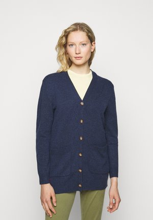 CARDIGAN LONG SLEEVE - Strickjacke - boathouse navy heather