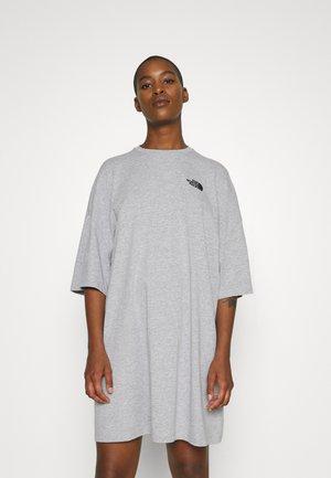 TEE DRESS - Sukienka z dżerseju - light grey heather