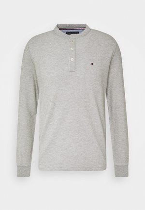 ESSENTIAL LONG SLEEVE HENLEY - Long sleeved top - grey