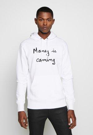 HOODIE MONEY IS COMING BIG - Hoodie - white