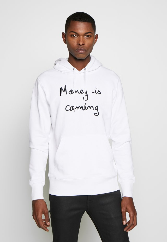 HOODIE MONEY IS COMING BIG - Kapuzenpullover - white