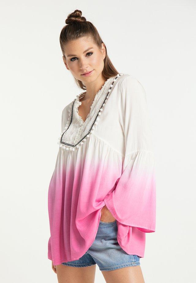 Tunika - weiss pink
