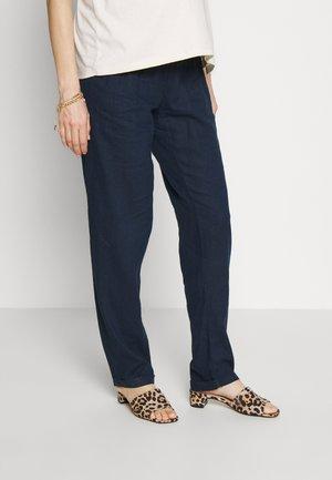 MLBEACH BELT PANT - Spodnie materiałowe - blue