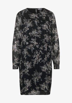 MIT BLUMEN - Day dress - schwarz