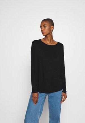 LUXE - Maglietta a manica lunga - true black