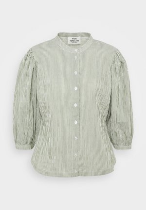 CRINCKLE POP SIGGA - Button-down blouse - army/off-white