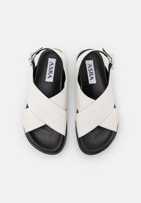 ASRA - PIPPY - Korkeakorkoiset sandaalit - white - 4