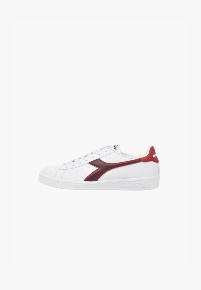 GAME - Sneakers basse - white-cranberry-cordovan