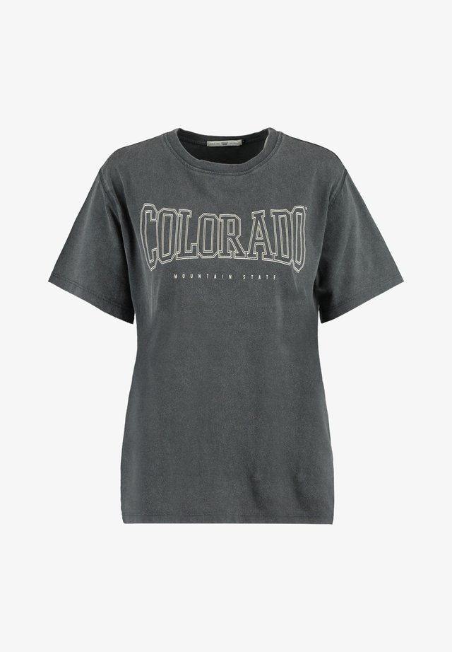 EVERLY - Print T-shirt - washed grey